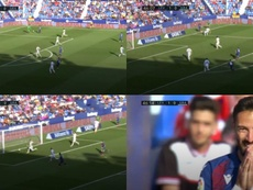 Morales trató de meter un gol antológico. LaLiga