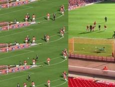 Como la carrerita absurda de Pogba, pero sin dar vergüenza ajena. Twitter/SportingLifeFC/DanWeiner