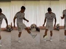 Le second challenge de Kroos. Instagram/toni.kr8s