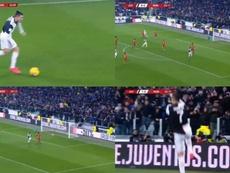 Ronaldo firma il goal del vantaggio. DAZN