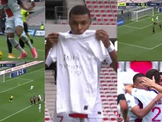 Mbappé fue el claro protagonista del primer tiempo. Movistar+/beINSports/Canal+