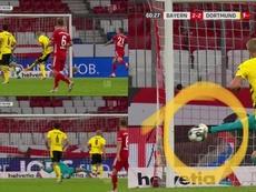 Haaland y Neuer tuvieron un bonito duelo. Captura/DAZN/ESPN