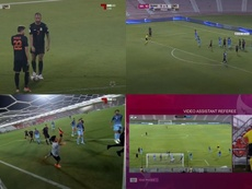 Víctor Vázquez la clavó en la escuadra, pero le privaron de un gol legal. AlKass
