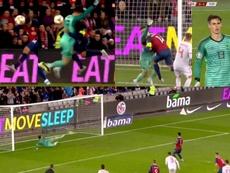 Kepa a concédé un penalty difficile à justifier. TVE