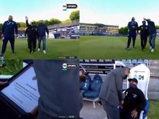 Un Maradona muy desmejorado recibió este sincero homenaje. TNTSports