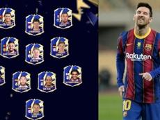 Messi, fuera del TOTY. Captura/EASports-AFP