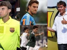 Collage con Henrique Buss y Keirrison. EFE/AFP/FCBarcelona