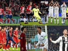 Atlético, Barcelona, Real Madrid, Bayern y Juventus están clasificados, PSG aún no. EFE/AFP/Agencias