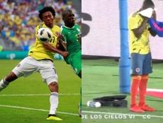Colombia recuperó ante Japón las medias rojas que Pékerman no quiso usar. EFE/GolCaracol