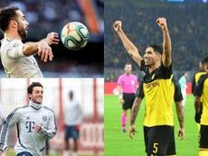 Tres candidatos a ser el lateral diestro titular del Madrid. EFE/AFP/FCBayern