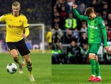 Haaland y Odegaard llevan casi medio centenar de goles este curso. AFP/EFE/Archivo