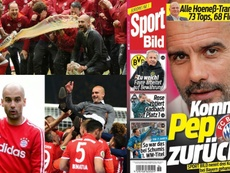 La presse italienne envoie Guardiola au Bayern. EFE/AFP/SportBild