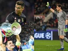 Cristiano batió a Xavi y va a por Casillas. AFP/Archivo