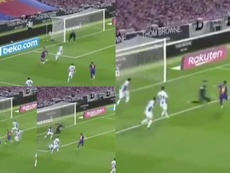 Suárez scored for Barcelona. Screenshots/MovistarLaLiga