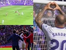 Sandró se reencontró con el gol ante el Mallorca. Capturas/MovistarLaLiga