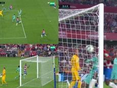 O Granada precisou de 64 segundos para abrir o placar contra o Barça. Movistar+