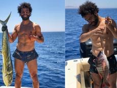 Salah est en train de profiter de ses vacances. Twitter/MoSalah