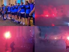 Los hinchas del Zenit festejaron a lo grande. FCZenit_EN