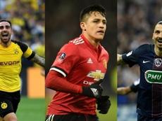 Alcácer, Alexis et Ibrahimovic n'ont pas triomphé au Barça. EFE/AFP