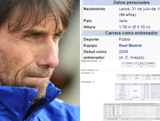 Antonio Conte Real Madrid. BeSoccer