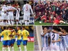 Argentina, España, Portugal e Brasil estão entre os dez primeiros do ranking da FIFA. BeSoccer