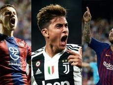 Bardhi, Dybala y Messi están entre los mejores tiradores de faltas del FIFA 19. EFE/AFP