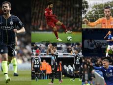 Seis candidatos a mejor jugador de la Premier en abril. EFE/AFP