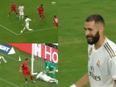 Le loupé de Benzema contre le Bayern. ESPN