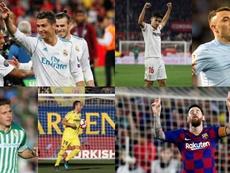 El 'top' de jugadores históricos de la última década en LaLiga. AFP/EFE