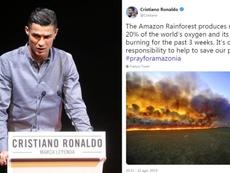 Cristiano pidió ayuda para sofocar el incendio del Amazonas. Collage/Cristiano