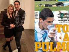 Di Maria's wife stepped in to explain her husband's injuries. Instagram/Olè