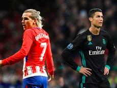 Antic pense que Griezmann a tout pour manger à la même table que Cristiano et Messi. BeSoccer/AFP