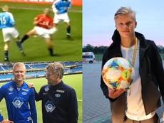 Así es Erling Haland, el goleador histórico del Mundial Sub 20. Captura/MalmöFK/NFF_Info