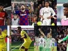 Oito renovações pendentes no futebol espanhol. Collage/AFP/EFE