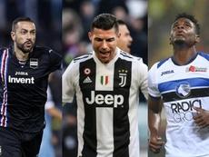 abio Quagliarella, Cristiano Ronaldo et Duván Zapata. AFP/EFE