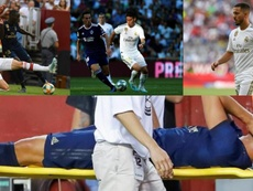 James is one of many Real Madrid players to pick up an injury this summer. Collage/EFE/AFP