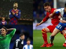 Marc Roca, Piqué y Bartra, candidatos a mejor futbolista catalán de 2019. EFE