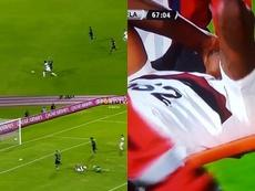 Bruno Henrique marcó y dejó el campo por lesión. Captura/SporTV