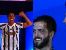 Cristiano comemora com bastante euforia. Captura/ESPN