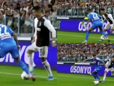 Cristiano aspire l'âme de son adversaire. Capture/Vamos