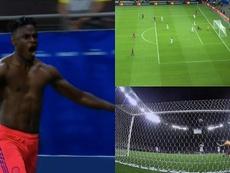 Zapata finiquitó el partido ante Argentina. Captura/DAZN