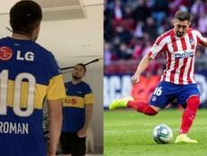 Héctor Herrera se puso a entrenar con la camiseta de Riquelme. EFE/h.herrera16