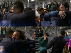 Keylor abraçou todos os ex-companheiros. Captura