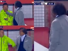 Gamero le pegó una bofetada a uno de sus asistentes. Captura/ESPN