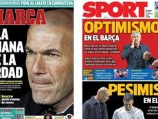 Portadas de Marca y Sport del 24-02-2020. Marca/Sport