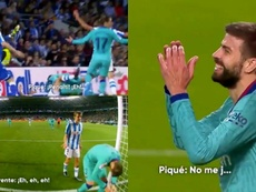 Piqué no dio crédito. Captura/Movistar+