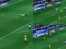 Funes Mori tuvo el 1-0 nada más arrancar el partido. Captura/FOXSports2