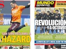 Portadas de la prensa deportiva del 25-11-20. AS/MundoDeportivo