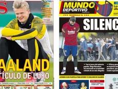 As capas da imprensa esportiva de 28 de novembro de 2020. MundoDeportivo/AS