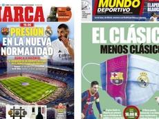 As capas da imprensa esportiva. MD/Marca